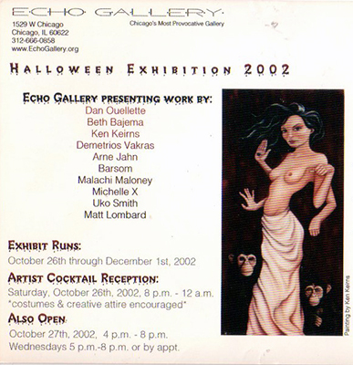 Echo Gallery Chicago Halloween Exhibition